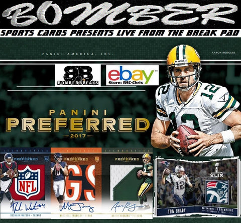 2017 Panini Preferred Football 5 Box Half Case Break [2nd Half] - (eBay Store BSC-Chris Team Auctions*) - Ending SUNDAY @8:34pm ET - 2/18/18