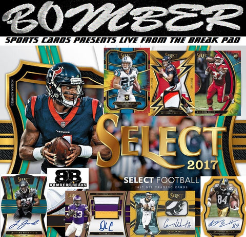 Live 8:45pm ET - SUNDAY NIGHT 2017 Panini Select Football 12 Box Case Break - Random Division #4 - Live 2/18/18