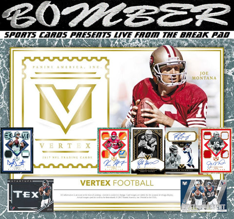 2017 Panini Vertex Football 4 Box Case Break - Random Divisions - Live 8/15/18