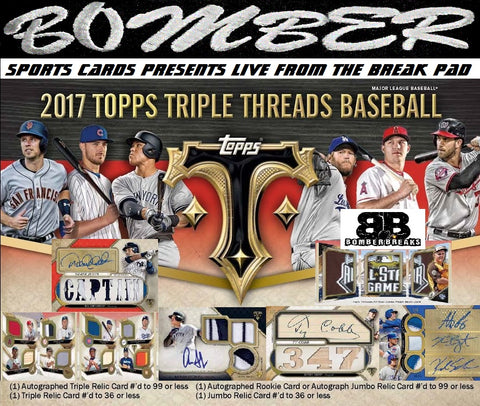 2017 Topps Triple Threads Baseball 9 Box Case Break - Random Division #1 - Live 5pm ET 9/20/17