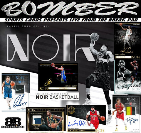 SUNDAY NIGHT 2018/19 Panini Noir Basketball 2 Box Half Case Break - Random Team #1 - Live 6/16/19