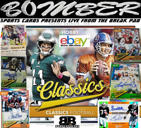 2018 Panini Classics Football 10 Box Case Break (eBay Store BSC-Chris Team Auctions*) Ending WEDNESDAY @8:34pm ET 5/17/18