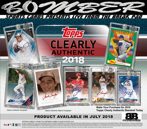 2018 Topps Clearly Authentic Baseball 20 Box Case Break