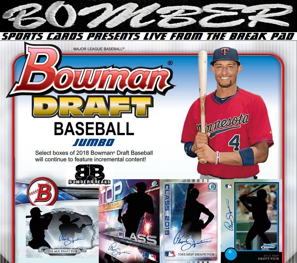 2018 Bowman Draft Baseball Jumbo 8 Box Case Break - Pick Your Team #1 - Live 12/14/18