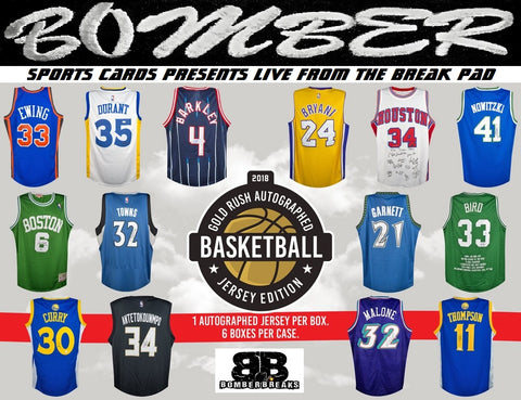 Live B4/After eBay - SUNDAY NIGHT 2018 Gold Rush Autographed Basketball Jersey Edition 6 Box Case Break (Last One) - Random Hit #5 - Live 2/18/18