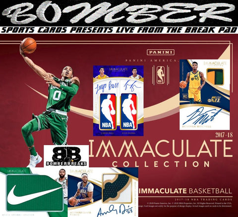 LIVE SUNDAY @7:05pm ET Breaking in Fill Order - 2017/18 Panini Immaculate Basketball 5 Box Case Break - Random Tiered Teams #2 - Live 10/21/18