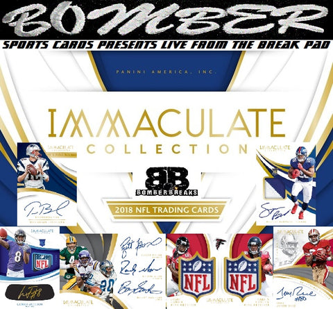 2018 Panini Immaculate Football 6 Box Case Break - Pick Your Team #3 - Live FRIDAY w/Artie 11/23/18