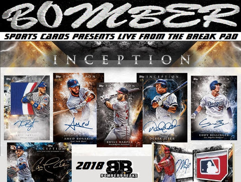 2018 Topps Inception Baseball 16 Box Case Break - Pick Your Team #1 - Live 6/27/18