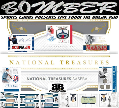 2018 Panini National Treasures Baseball 4 Box Case Break - Pick Your Team #1 - 9/26/18