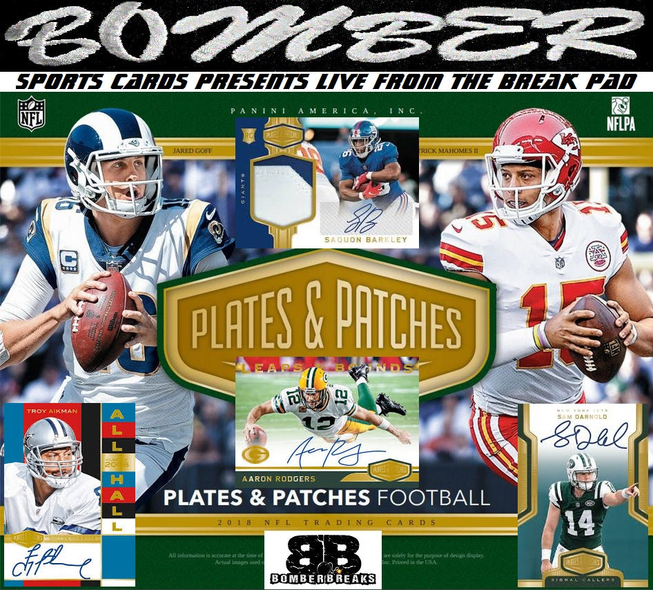 e680d0da89a 2018 Panini Plates   Patches Football 12 Box Case Break - Pick Your Team  1