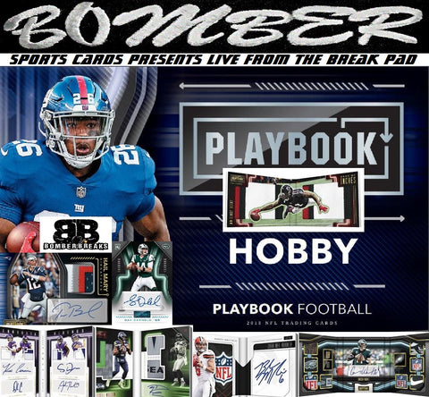 2018 Panini Playbook Football 8 Box Case Break + 16 Kickoff Packs - Pick Your Team #3 - Live 12/12/18
