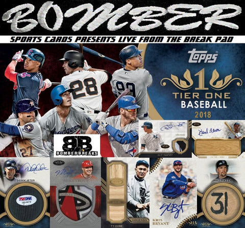 2018 Topps Tier One Baseball 12 Box Case Break - Pick Your Team #1 - Live 5/23/18