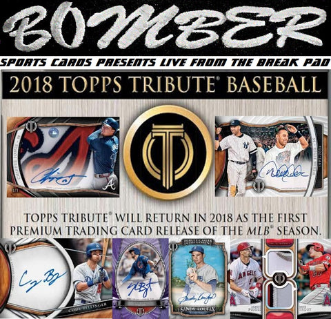 NEW RELEASE DATE 2018 Topps Tribute Baseball 6 Box Case Break - Pick Your Team #2 - Live 3/28/18