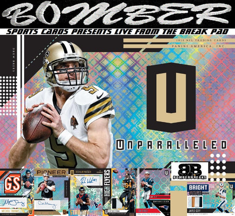 2018 Panini Unparalleled Football 8 Box Case Break - Pick Your Team #4 - Live 8/15/18