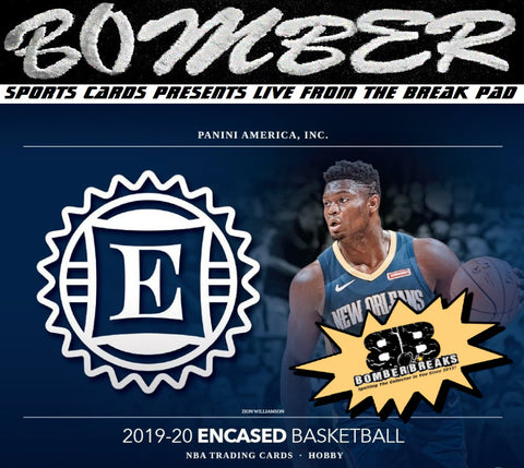 LIVE WED~1:45pm ET for AFTERNOON of BOOM (TRANSCENDENT PROMO 1X) 2019/20 Panini Encased Basketball 8 Box Case Break - Pick Your Team #1 - Live 10/21/20