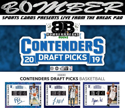 (Boom! Get 1 2019 National VIP Silver Pack Per Spot!) $100-$200 Break Credit Giveaway* 2019/20 Panini Contenders Draft 6 Box Break (No Zion in 1st) - Random Tiered Team #2 - Live 9/18/19