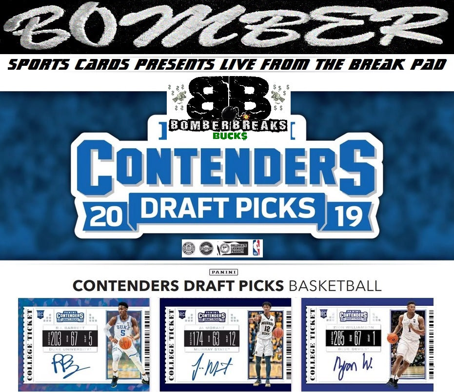 $175-$350 Break Credit Giveaway*) 2019/20 Panini Contenders Draft 12 Box Case Break - Random Box #1 - Live 9/18/19
