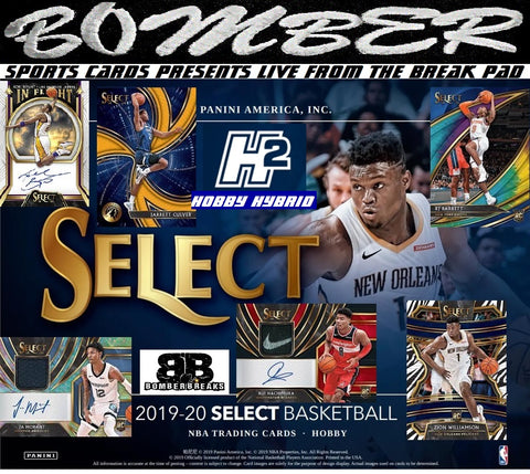 PANINI SPRING TRAINING ROAD TRIP - EXCLUSIVE 2019/20 Panini Select Basketball Hybrid 10 Box Half Case Break - Random Tiered Team #8 - Live 4/1/20