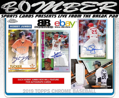 Live Sports Card Group Breaks From Bomber Sports Cards