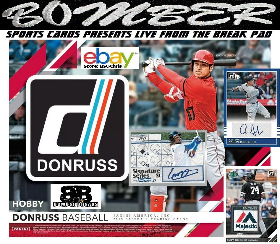 2019 Donruss Baseball 4 Box 1/4 Case Case Break [Last 4] - (eBay Store BSC-Chris Team Auctions*) - Ending SUNDAY @7pm ET 3/24/19