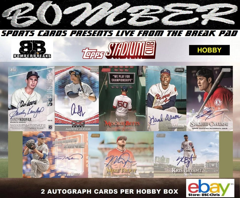 2019 Topps Stadium Club Baseball 4 Box 14 Case Break 4th 4