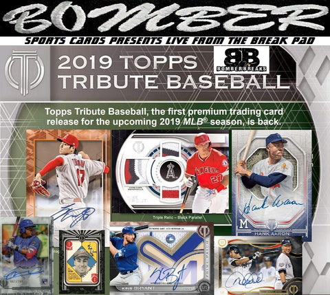 2019 Topps Tribute Baseball 6 Box Case Break - Random Team #1 - Live 8/18/19