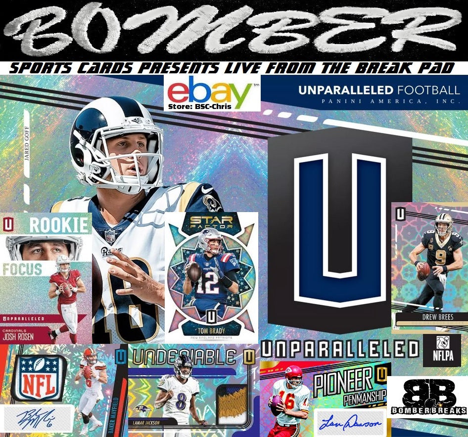 new product 82289 94f2e 2019 Panini Unparalleled Football 8 Box Case Break [1st Case ...