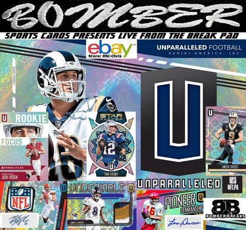 2019 Panini Unparalleled Football 8 Box Case Break - (eBay Store BSC-Chris Team Auctions*) - Ending SUNDAY @8pm ET 8/18/19
