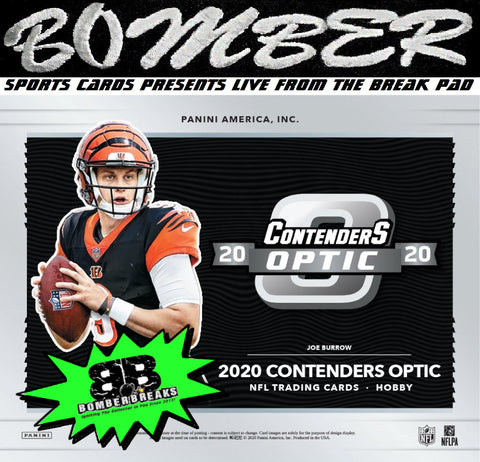SUNDAY NIGHT - 2020 Panini Contenders Optic Football 5 Box Half Case Break - Random Team #7 - Live 4/25/21