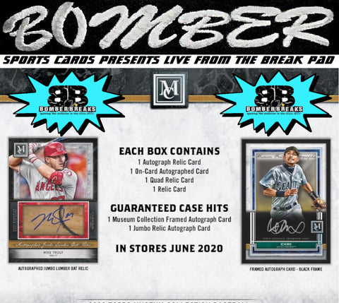 SUNDAY NIGHT - 2020 Topps Museum Baseball 4 Box Break - Random Tiered Team #6 - Live 8/9/20 (10 left)