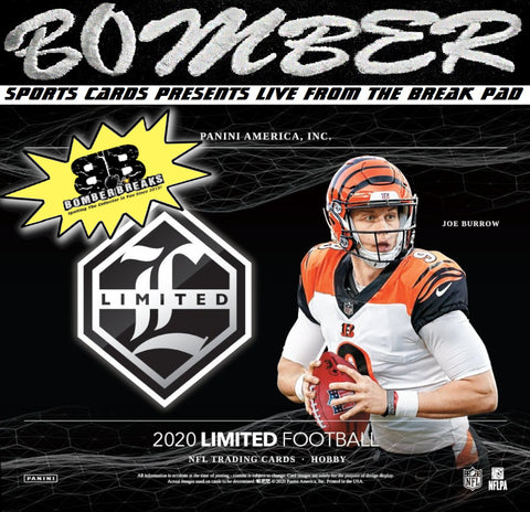 12:00am EST - THURSDAY NIGHT - 2020 Panini Limited Football 4 Box Break - Random Team #11 - Live 4/22/21