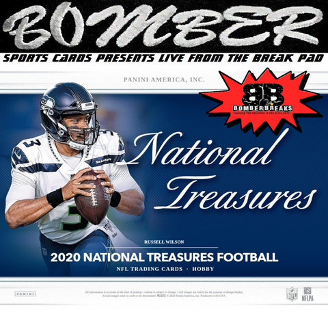 11:45pm EST - THURSDAY NIGHT - 2020 Panini National Treasures Football Hobby 1 Box Break – Random Team #3 - Live 4/22/21