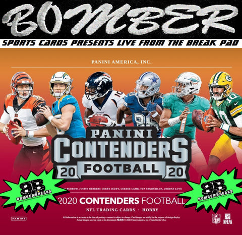 SUNDAY NIGHT - (TRANSCENDENT PROMO 1X) - 2020 Panini Contenders Football 6 Box Half Case Break - Pick Your Team #8 - Live 1/24/21