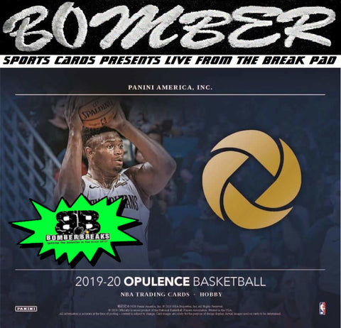 FRIDAY AFTERNOON - 2019/20 Panini Opulence Basketball 2 Box Case Break - Pick Your Team #2 - Live 9/18/20 (10 left)