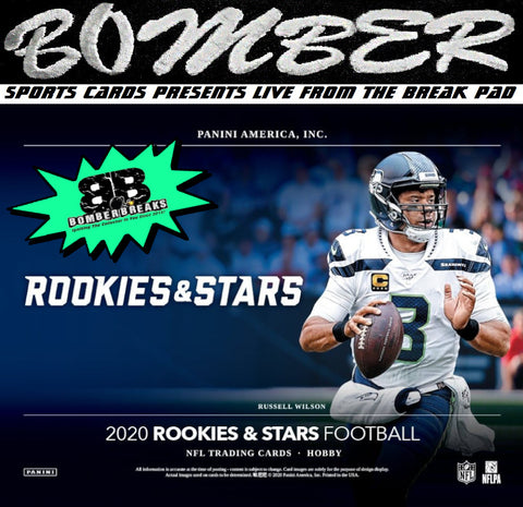 (TRANSCENDENT PROMO 4X) - 2020 Panini Rookies and Stars Football 7 Box Half Case Break - Random Tiered Team #1 - Live 12/2/20 (1 left)