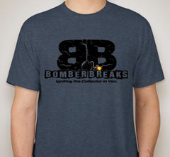 Short Sleeve Bomber Breaks Logo T-Shirt - BOOM!