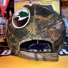 Bomber Sports Cards Mossy Oak Camo Hat - BOOM!