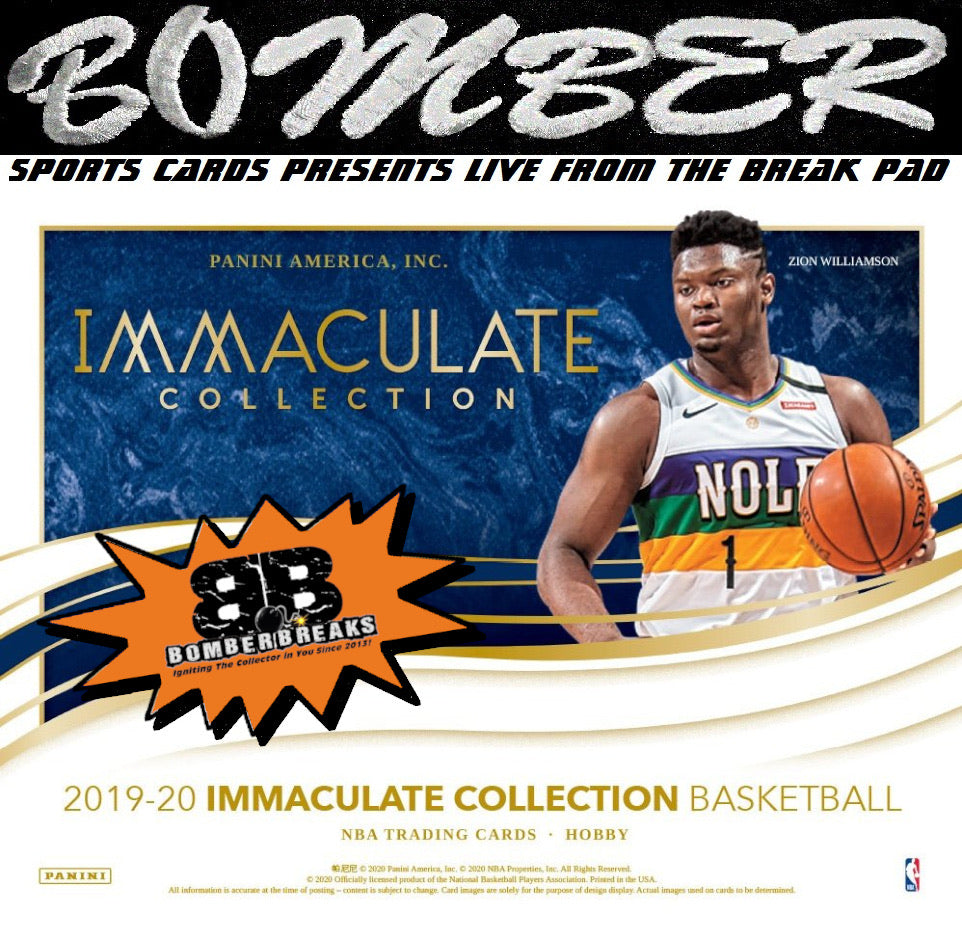 (TRANSCENDENT PROMO 10X) - WEDNESDAY NIGHT - 2019/20 Panini Immaculate Basketball 5 Box Case Break - Random Team #1 - Live 12/2/20