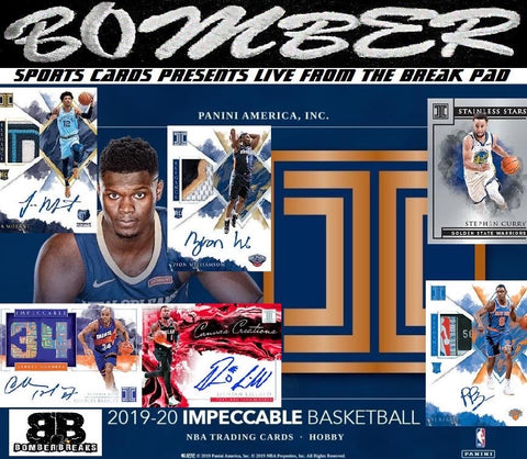THURSDAY NIGHT - 2019/20 Panini Impeccable Basketball 3 Box Case Break - Random Tiered Team #11 - Live 4/2/20