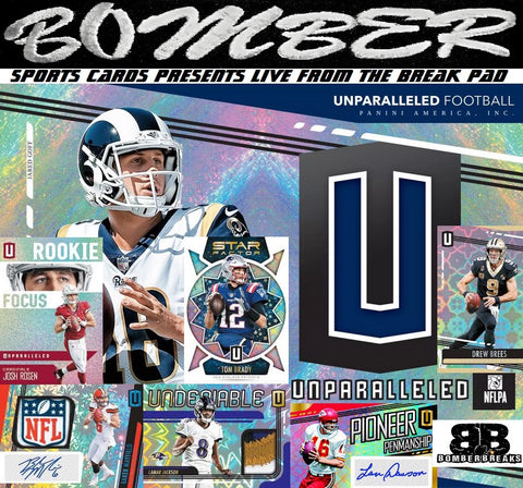 "(20% Off w/code ""Boom"") 2019 Panini Unparalleled Football 8 Box Case Break - Pick Your Team #3 - Live 8/18/19"