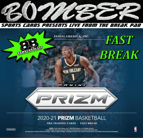 SUNDAY NIGHT - 2020/21 Panini Prizm Basketball Fast Break 2 Box Break - Random Team #12 - Live 4/25/21