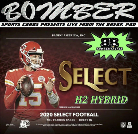 SUNDAY NIGHT - 2020 Panini Select Football H2 3 Box Break - Random Team #14 - Live 4/25/21