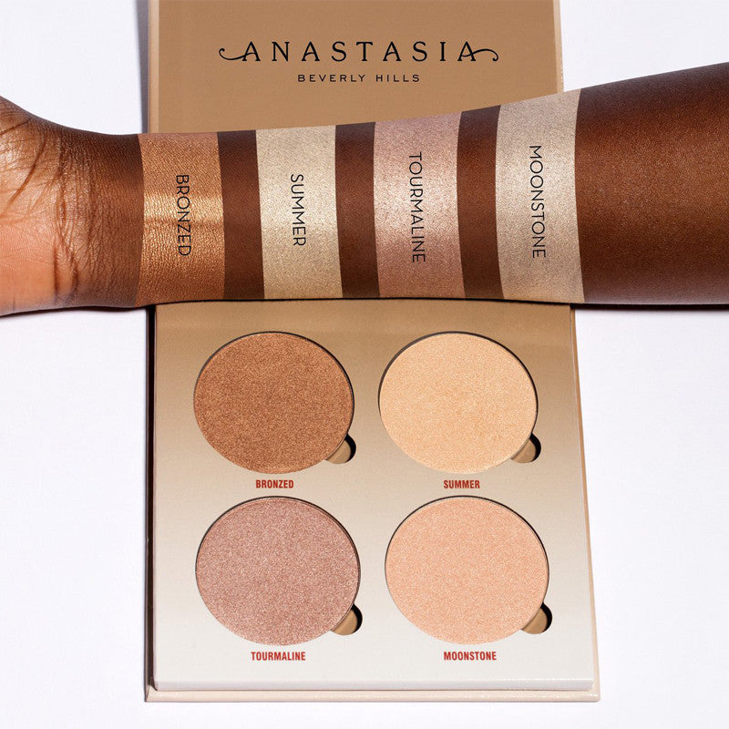 Sun Dipped Glow Kit swatches on dark skin