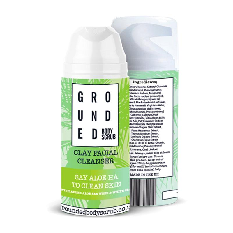 Natural clay face cleanser by Grounded Body Scrub UK