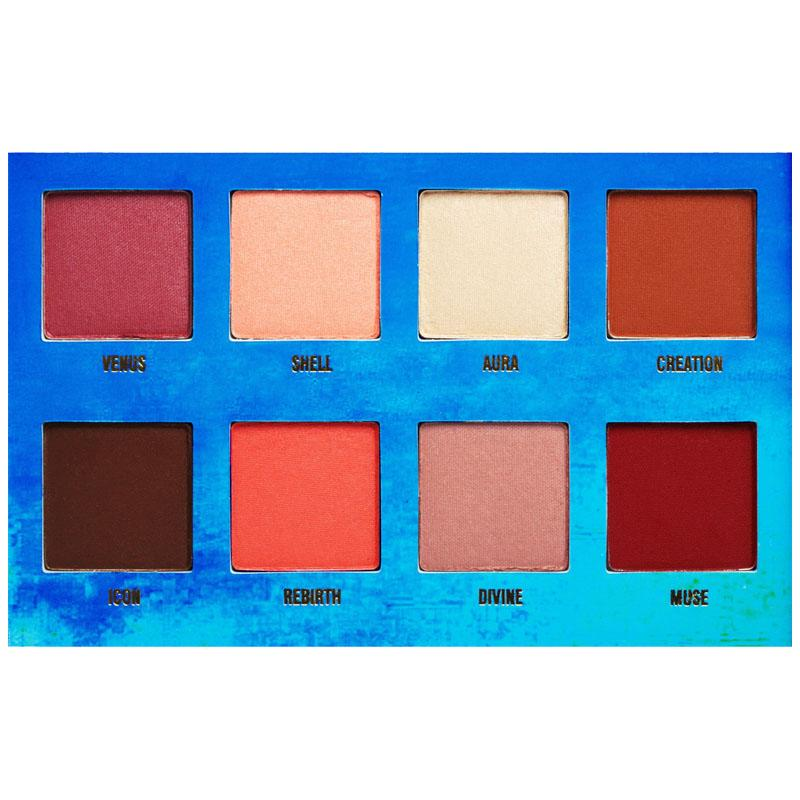 Eyeshadow colours of the Venus Palette by Lime Crime