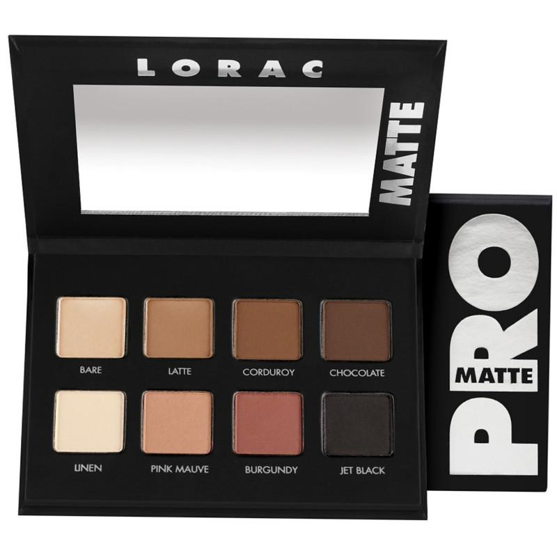 LORAC PRO Matte Eyeshadow Palette and package