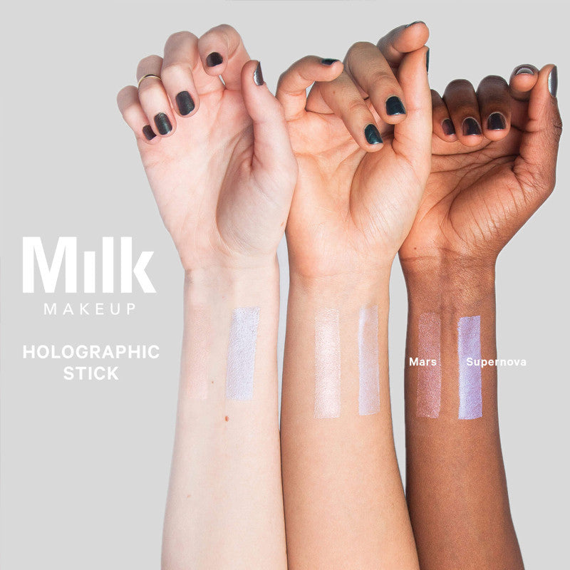 Milk Makeup Holographic Stick Mars and Supernova swatches