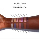 Norvina Palette swatches on dark skin