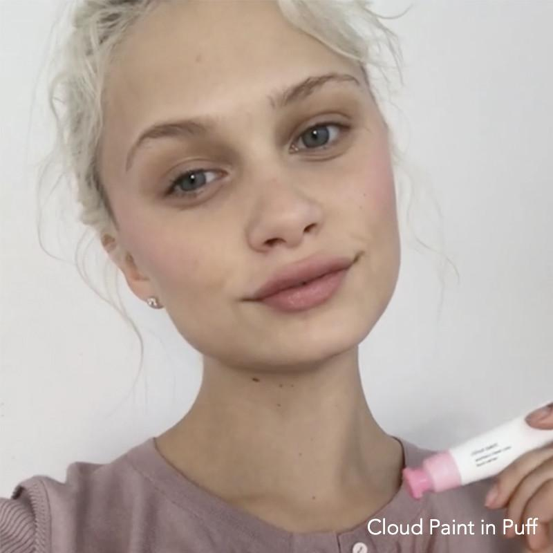 Cloud Paint in Puff on fair skin