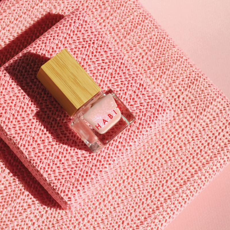 Toxic free nail polish in a pale nude shade by Habit Cosmetics